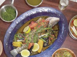 Mild, flaky, and slightly sweet, Branzino is a fish typically served whole with lemon and other flavorful additions.                                  Photo Courtesy Ruth Corcoran