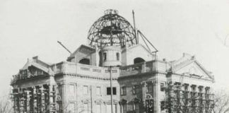 Luzerne County Courthouse under construction in 1908. Photo from Wilkes-Barre City History Facebook page.