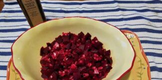 The finished beet salad, shown here, gets its lovely deep red color from natural pigments called betalains that are associated with heart health and may help guard against cancer. Red beets also contain lutein, which benefits your eyes.                                  Mark Guydish | Times Leader