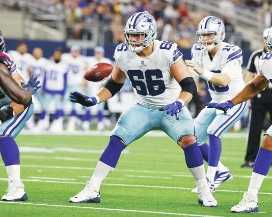 Lake-Lehman and Penn State alum Connor McGovern (66) is set to start at guard for the Cowboys in tonight's NFL season-opener against the reigning Super Bowl champs.