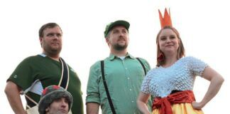 Sidekicks assemble! It is time for Linguini (Christian Lynch), Lily (Alicia Alaimo), Frog (David Giordano), and Broshi (Dave Baker) to take the stage and show the world what sidekicks can do. You'll meet these characters, and more in 'Tall Green Plumber,' an original musical written by local playwrights Michael Wawrzynek and Ian Owens.                                  Angel Berlane Mulcahy | On My Cue Photography