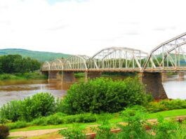 The Firefighters' Memorial Bridge is seen from the Pittston side of the Susquehanna River in a recent photo.                                  Roger DuPuis   Times Leader