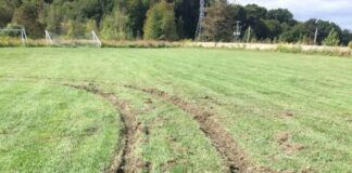 An athletic field used by the Hanover Area Youth Soccer Club was vandalized by off-roaders, said Terry Ostrowski, chief executive officer and president of Earth Conservancy.                                  Submitted photo