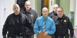 Hugo Selenski leaves the Luzerne County Courthouse in sheriff's custody at the conclusion of his 2015 murder trial. Selenski will take his chances again with the Pennsylvania Superior Court in hopes of a new trial in Luzerne County.