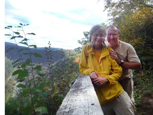 <p>The happy couple mark their 20th year together along the scenic West Rim Trail of the Pine Creek Gorge in Tioga County. Thanks for marrying me, MT!</p>                                  <p>Mark Guydish | Times Leader</p>