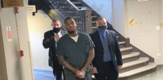 Homicide suspect Nafese Antoine Pierce enters the Luzerne County Courthouse on Friday for a preliminary hearing.