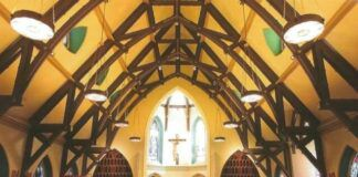 A look at the Chapel of Christ the King's sanctuary after rehabilitation. Photo by David B. Schneider.                                  Photo by David B. Schneider.