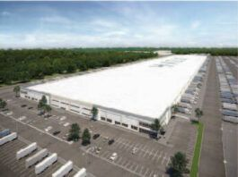 This rendering shows a a 973,000 square foot warehouse planned for mine-scarred land in Wilkes-Barre Township.                                  Submitted