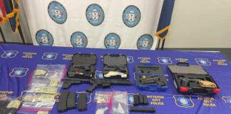 Pittston police and the department's Special Investigations Unit and the Luzerne County Drug Task Force along with other law enforcement agencies arrested five people on drug trafficking offenses seizing a large amount of illegal drugs and firearms, seen here.                                  Ed Lewis | Times Leader