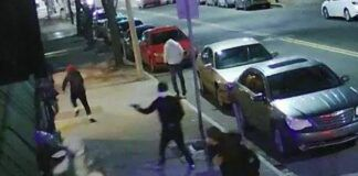 A surveillance camera recorded a shooting that left two men dead outside Bo's on Main, South Main Street, Wilkes-Barre, on Jan. 30.                                   Submitted photo